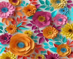 Paper Flower Designs Paper Flower Spring Wall Pop