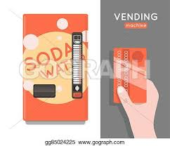 Credit Card Vending Machines For Sale Fascinating EPS Illustration Vending Machine Set Sell Snacks And Soda Drinks
