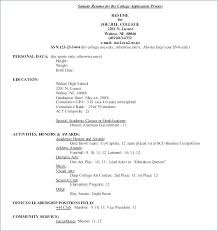 College Extracurricular Activities Resume College Application