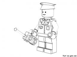 Here we have collection of lego coloring pages. Printable Lego Policeman Coloring Pages Free Kids Coloring Pages Printable