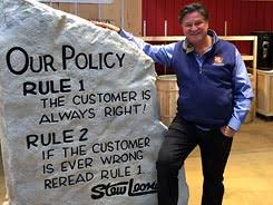 how it all began stew leonard s  business and its legion of loyal shoppers is largely due to their passionate approach to customer service rule 1 the customer is always right