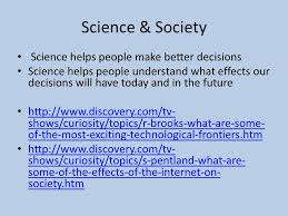 do now write down ways science has affected society ppt 4 science