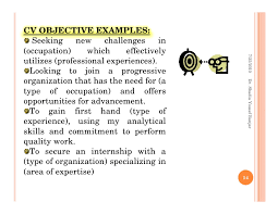 Job Application Objective Examples Steps For Job Applications By Dr Shadia Yousef Banjar Pptx