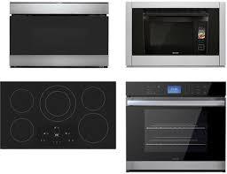 sharp 4 piece kitchen appliance package