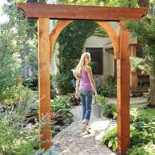 build a garden arch this classic garden arch has just six parts and
