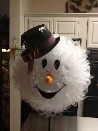 images of snowman mesh wreaths
