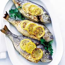 baked sea bream with lemon and parsley