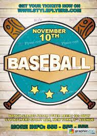 Free Baseball Flyer Template Baseball Psd Flyer Template Free Download Vector Stock