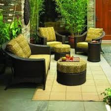 yellow outdoor furniture. Outdoor Patio South Bali Conversation Furniture Collection Replacement Cushions Yellow I
