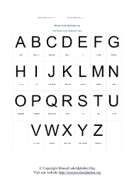 Telephony Alphabet Chart Morse Code Alphabets And Numbers Charts In Pdf Morse Code