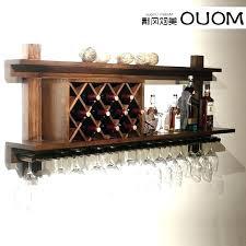 wall mounted wine glass rack wood racks impressive storage