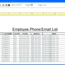 Phone Extension List Template Excel Employee Directory Template Email List Phone Word Excel
