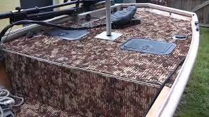 hydroturf installed in duracraft jon boat gatortrax pattern you