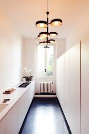 image modern kitchen lighting. Small Modern Galley Kitchen With Awesome Lighting Image