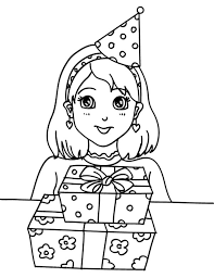 Small Picture Preety Girl Birthday Party Coloring Pages NetArt
