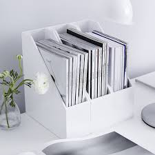 home office magazine. Love These White Lacquered Magazine Holders - Perfect For A Minimal Home Office. Office I