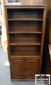 cherry bookcase dark with doors bookshelves glass for