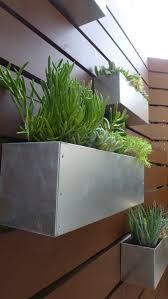 galvanized metal hanging planter box