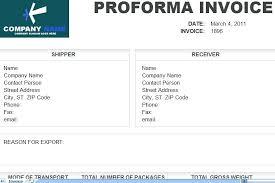 Performa Format Proforma Receipt Template Poporon Co