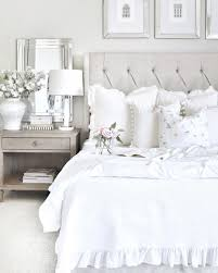 White Bedrooms Neutral Easy Master Bedroom With Restoration Hardware Bed White
