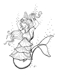 Small Picture free Original Coloring Pages Mermaid Dolphin Tail tiered dress