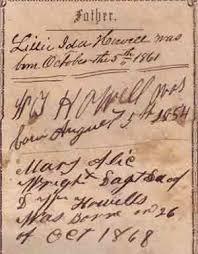 D. W. Howell Bible 1852