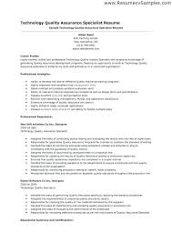 quality control resume. Resume Format Quality Assurance