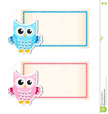 frame blank white form cartoon owl stock vector  image