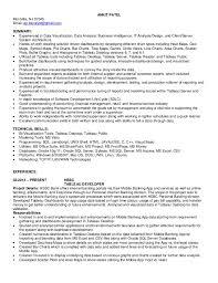 Tableau Developer Resume