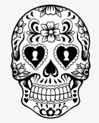 printable sugar skull colouring pages