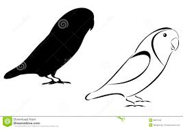 lovebird clipart silhouette. Exellent Silhouette Lovebirds Inside Lovebird Clipart Silhouette V