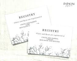 Gift Registry Template Wedding Gift Card Template Bootimar Co