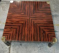 art deco macassar ebony coffee table