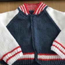 Kids Baseball Jacket In Debbie Bliss Baby Cashmerino