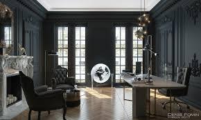 black home office. modren home the black parisian interior design for home office throughout