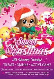 Free Christmas Flyer Templates Sweet Christmas Flyer Psd Template