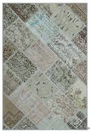beige over dyed turkish patchwork rug 3 11 x 5