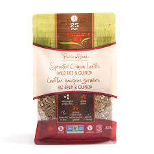 sprouted lentil rice and quinoa