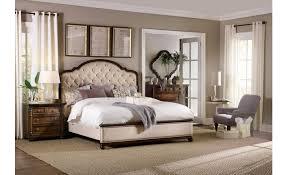 Hooker Furniture Leesburg California King Upholstered Bed in Dark Wood