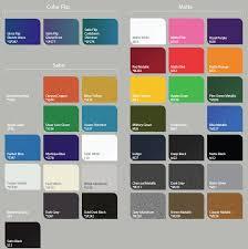3m Vinyl Wrap Color Chart 18 Detailed Car Wrap Colors 3m