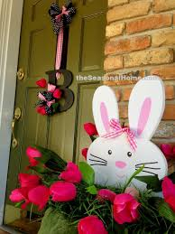 tulip bunny porch decor