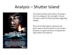 codes and conventions of psychological thriler film posters 7 analysis shutter island