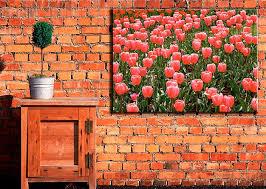 outdoor canvas art. Outdoor Canvas Wall Art For Your Garden Patio Balcony Backyard Printed On Red Flower E