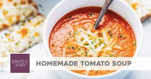 Simple Homemade <b>Tomato Soup</b> Recipe - Pinch of Yum