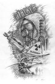 арт для тату сталкер Art в 2019 г эскиз тату татуировки и