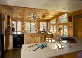 rustic sunroom addition and kitchen remodel