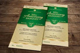 Banquet Tickets Sample Michael Taylor Godserv Print Template Portfolio Green