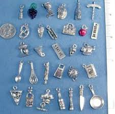 Spoon Charms Silver Spoon Charms Spoon Pendants Kitchen Charms Cooking  Charms Miniature Charms 10 pieces