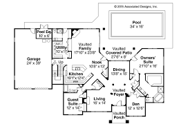 Tuscan House Plans   Meridian     Associated DesignsTuscan House Plan   Meridian     First Floor Plan