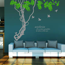 ivy leaves tree branches birds wall art mural decor sticker wisteria wall quote decal poster home wall applique 188 x 210cm